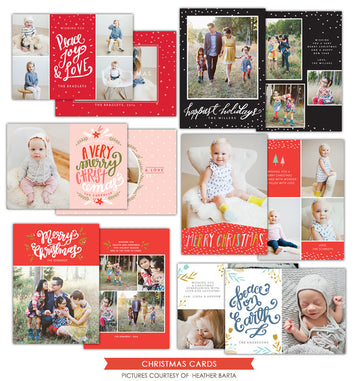 Christmas Photocards Bundle | Christmas Peace