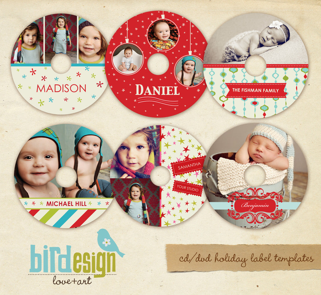 CD labels set | Holiday memories