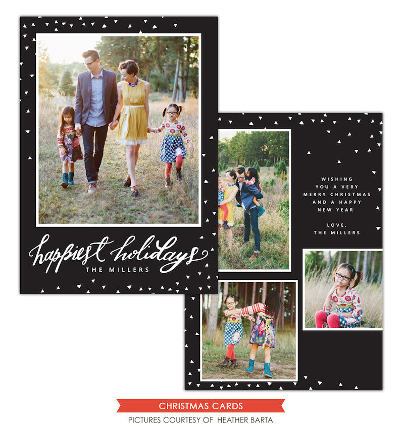 Christmas Photocard Template | Elegant holidays