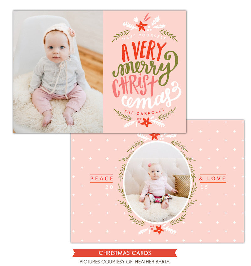 Christmas Photocard Template | Sweet Christmas
