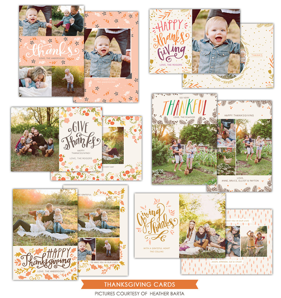 Thanksgiving Cards Bundle | Giving thanks