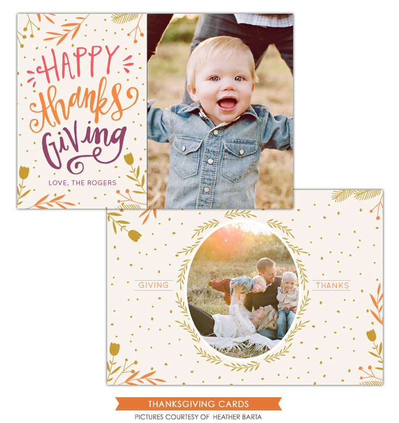 Thanksgiving Card Template | Happy thanks