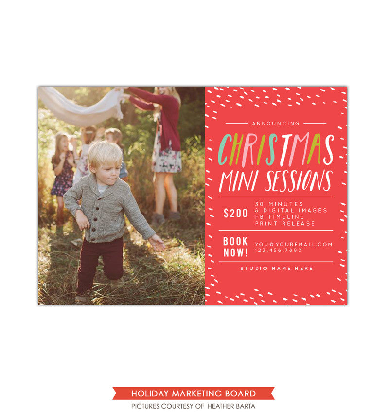 Christmas Marketing board | Colorful Christmas minis