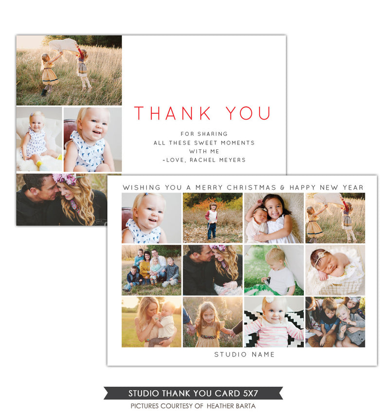 Studio Thank you Card & Newsletter | Holiday Thanks
