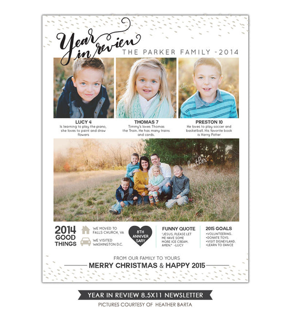 Christmas Family Newsletter | Good moments