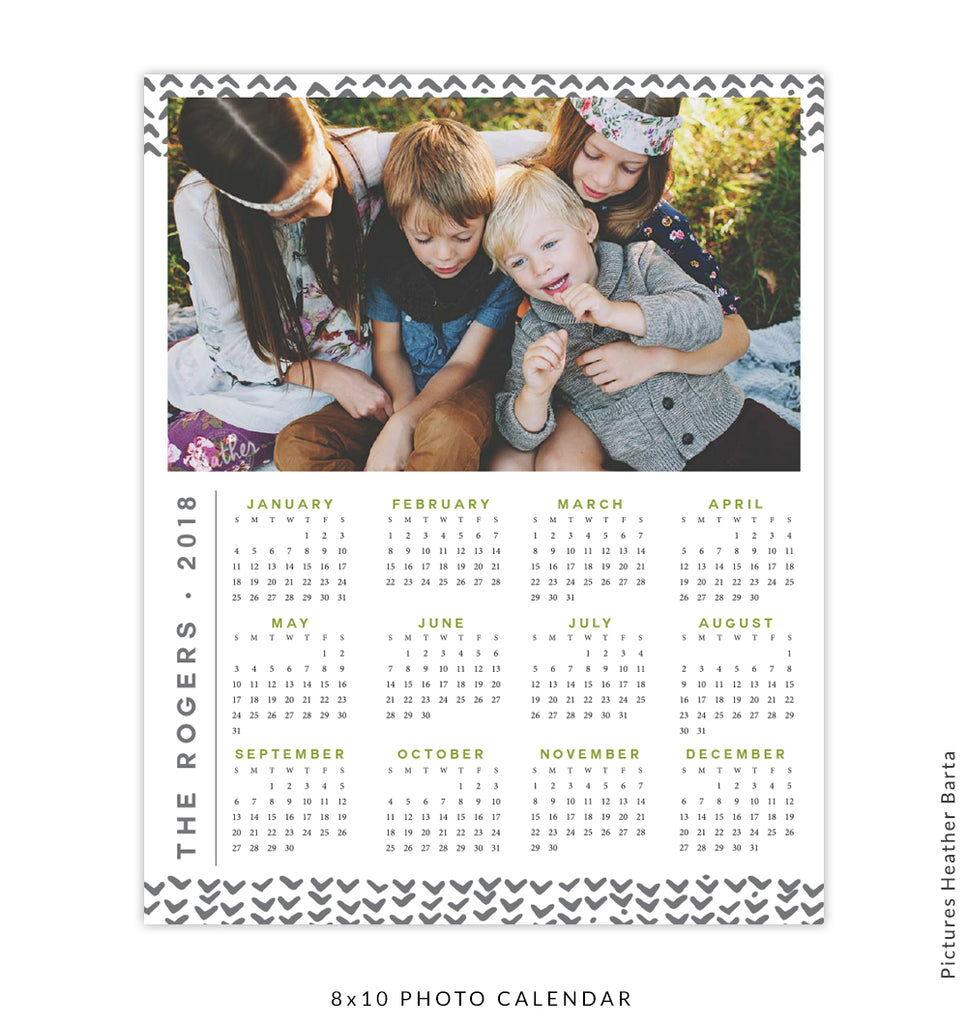 8x10 Calendar 2018 template | With family