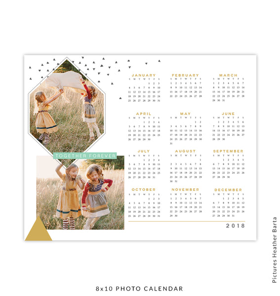 2018 calendars birdesign for Forever calendar template