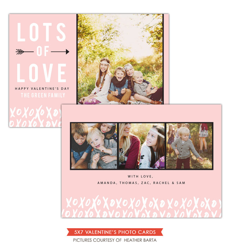 Valentine Photocard Template | Lots of love