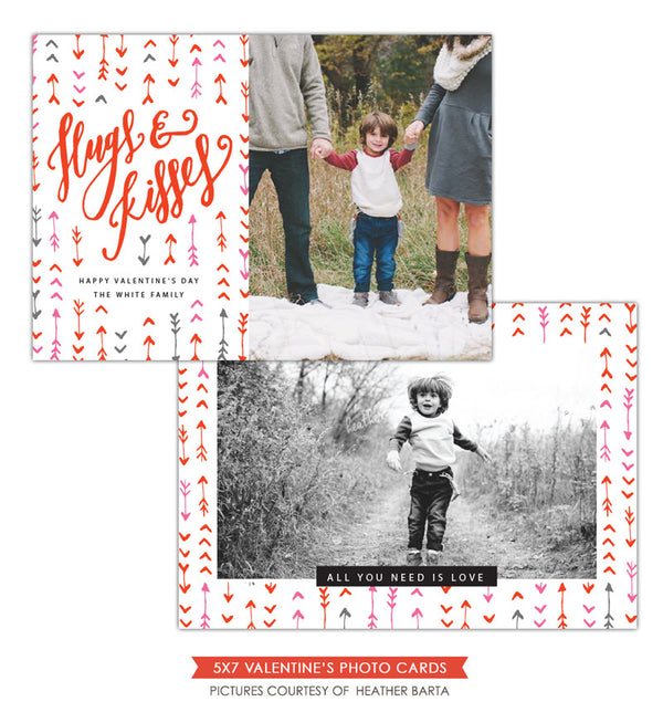 Valentine Photocard Template | Mixed arrows