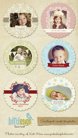 Scalloped Cards Bundle | Tree ornaments