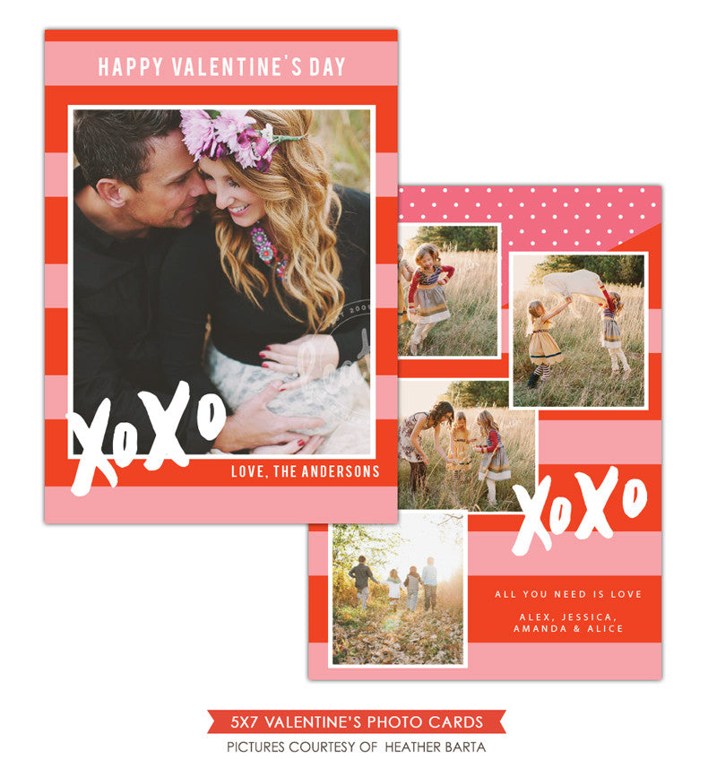 Valentine Photocard Template | XOXO letters