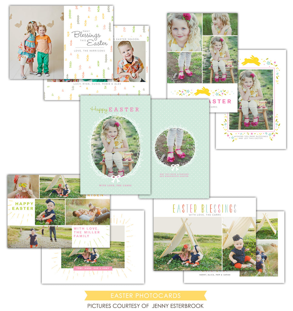 Easter photo cards bundle | Colorful Easter Set