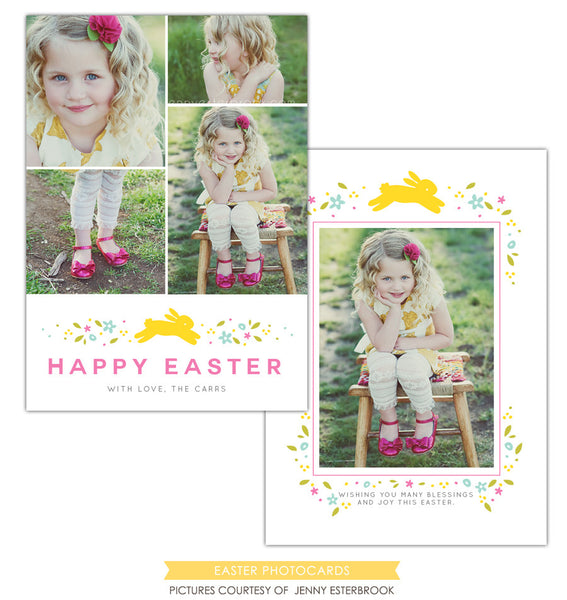 Easter photo card | Yellow bunny