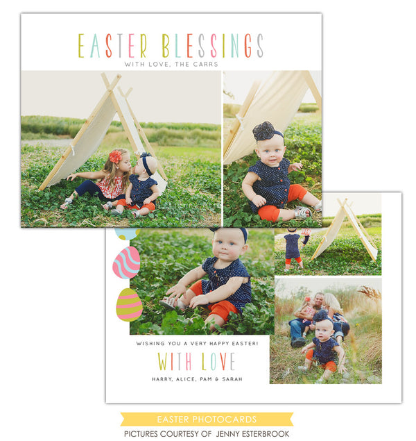 Easter photo card | Spring colors