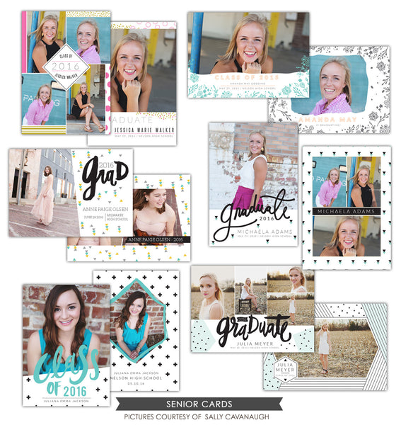 Grad announcements bundle | Geo collection