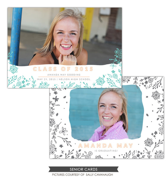 Grad announcement | Blooming days