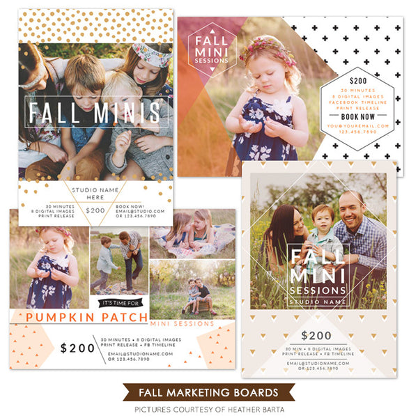 Photography Marketing boards bundle | Fall is here