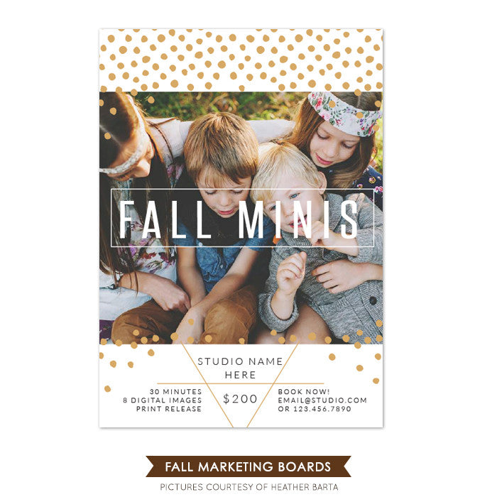 Photography Fall Marketing board | Dots rain