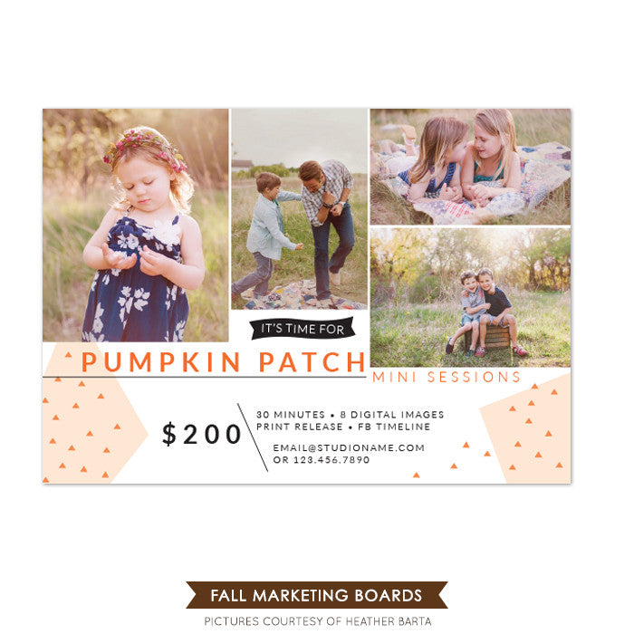 Photography Fall Marketing board | Pumpkin patch