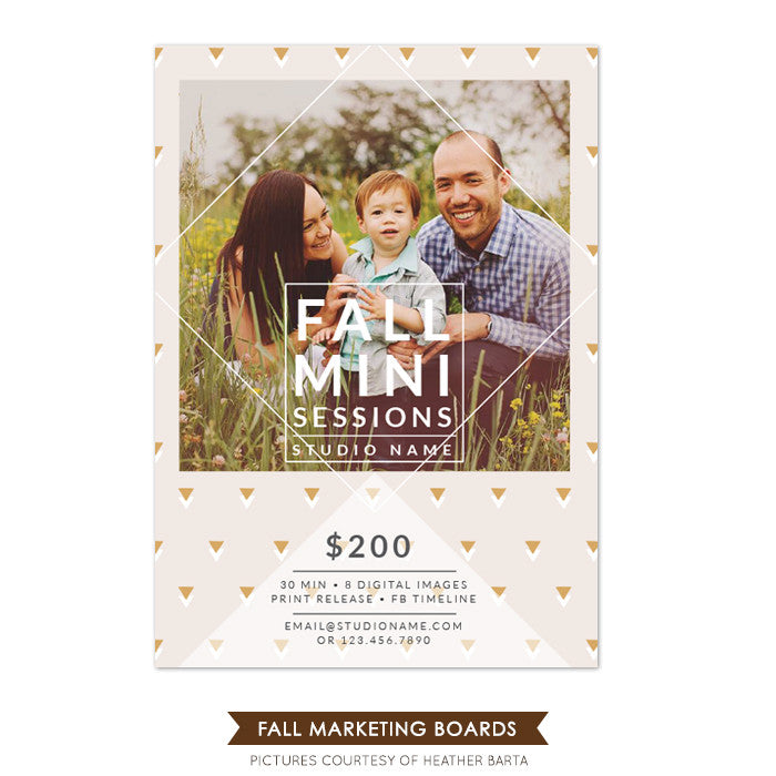 Photography Fall Marketing board | Triangle arrows