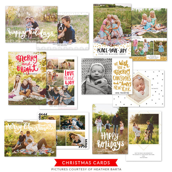 Christmas Photocards Bundle | Christmas Wish