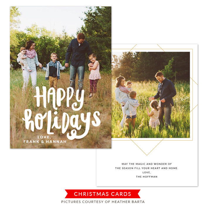 Christmas Photocard Template | Happy Magic