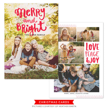 Christmas Photocard Template | Bright Holiday