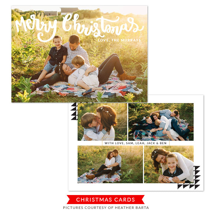 Christmas Photocard Template | Merry and Bright