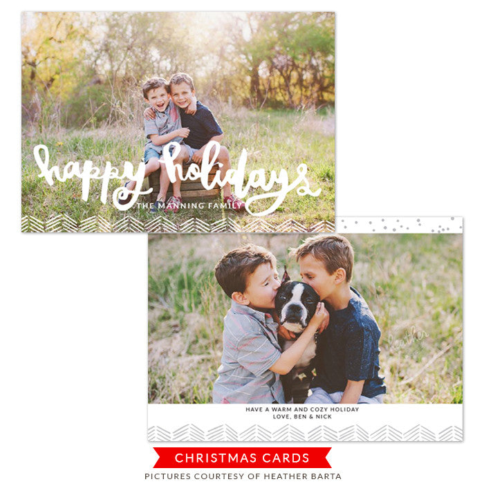 Christmas Photocard Template | Wonderful Christmas