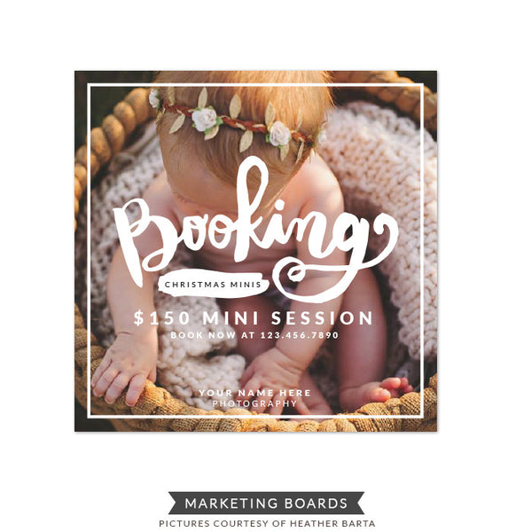 Square Marketing board | Booking Minis