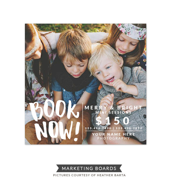 Square Marketing board | Book Now