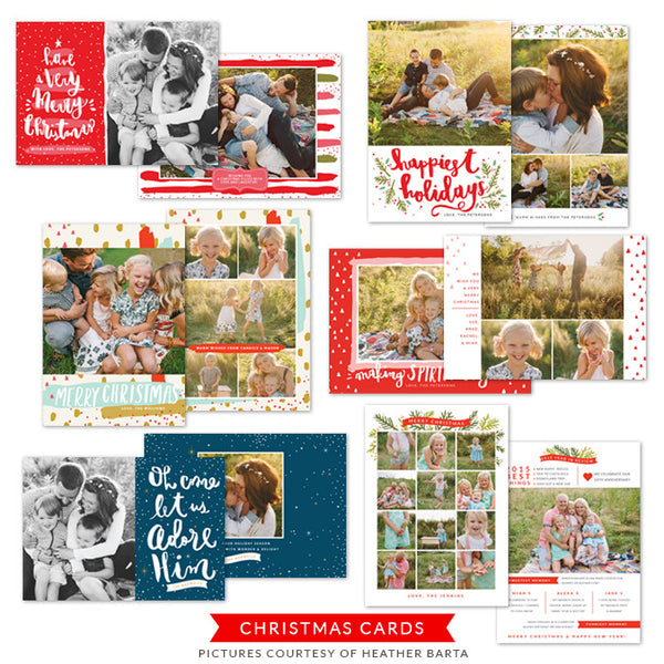 Christmas Photocards Bundle | Very Merry Christmas