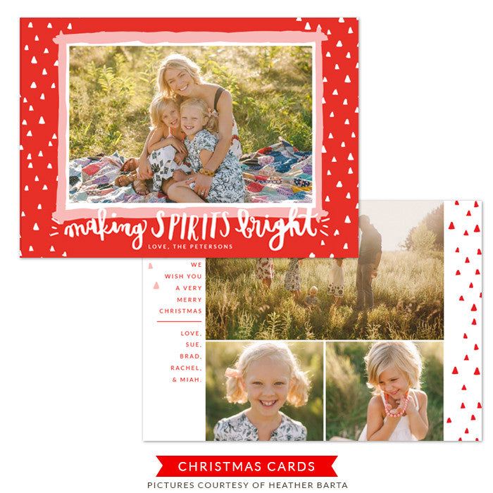 Christmas Photocard Template | Bright Spirit