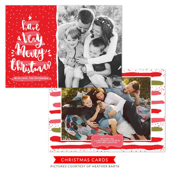 Christmas Photocard Template | Love and Laughter