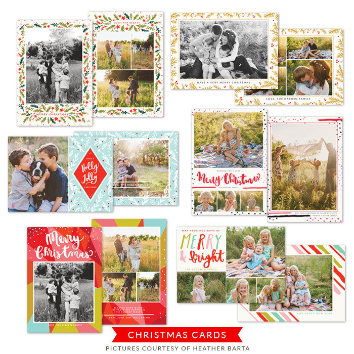 Christmas Photocards Bundle | Holly Jolly Christmas