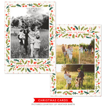 Christmas Photocard Template | Home For The Holidays