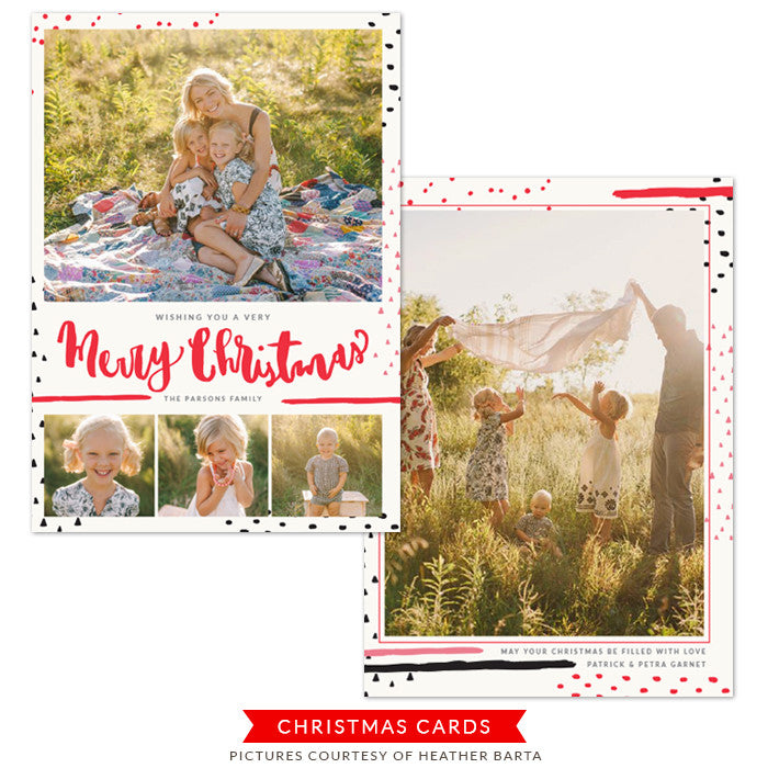 Christmas Photocard Template | Warm hugs