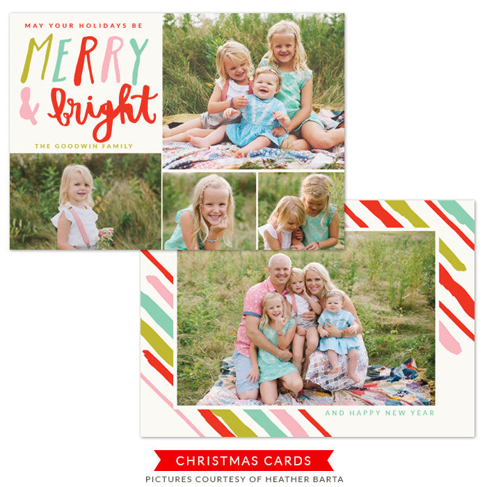 Christmas Photocard Template | Bright Days