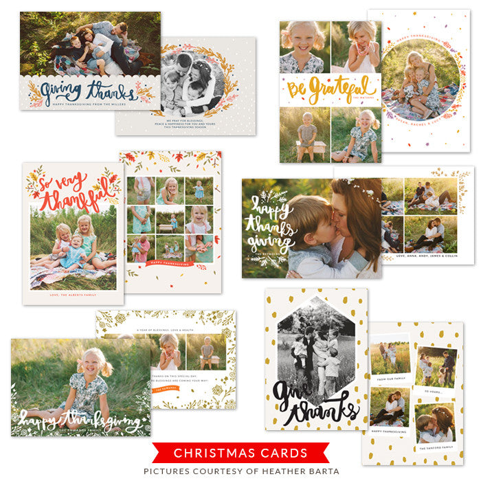 Thanksgiving Photocards Bundle | Season of Gratitude