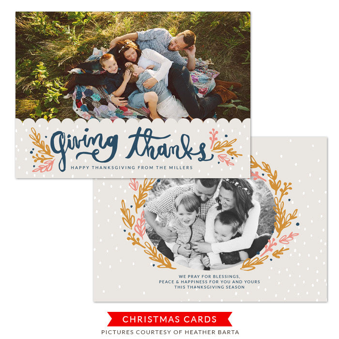 Thanksgiving Photocard Template | Thanksgiving Blessings