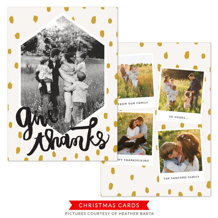 Thanksgiving Photocard Template | Leaves of Gratitude