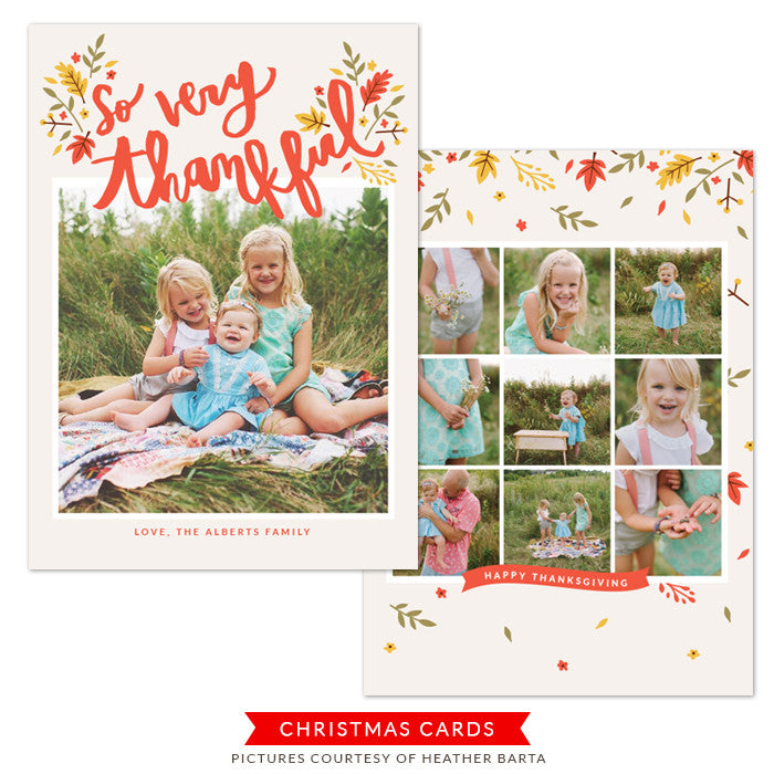 Thanksgiving Photocard Template | Falling in Gratefulness