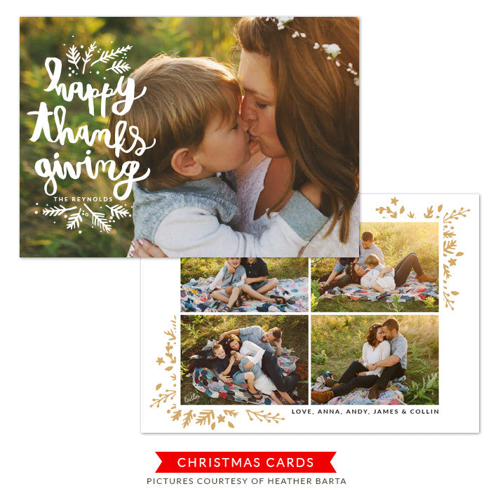 Thanksgiving Photocard Template | Morning Grace