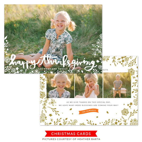 Thanksgiving Photocard Template | Festival of Joy
