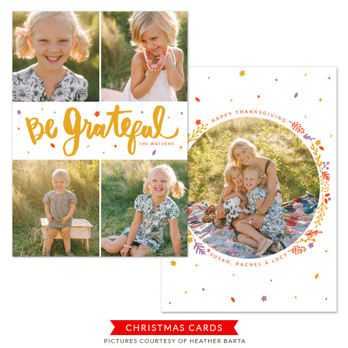 Thanksgiving Photocard Template | Expression of Love