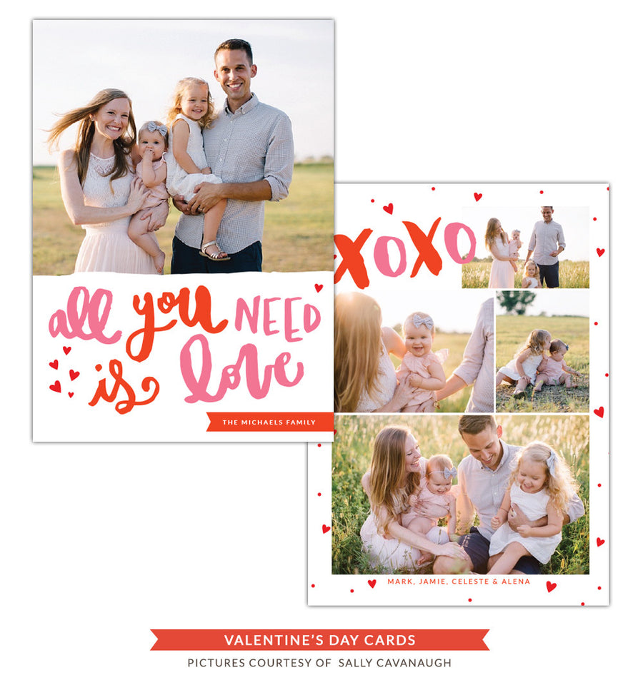 Valentine Photocard Template | All you need is love