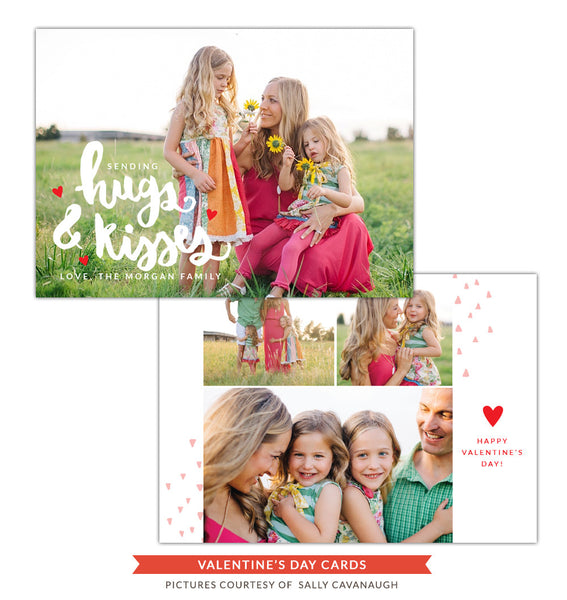 Valentine Photocard Template | Mom kisses
