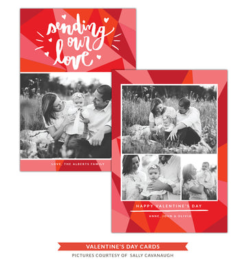 Valentine Photocard Template | Sending love