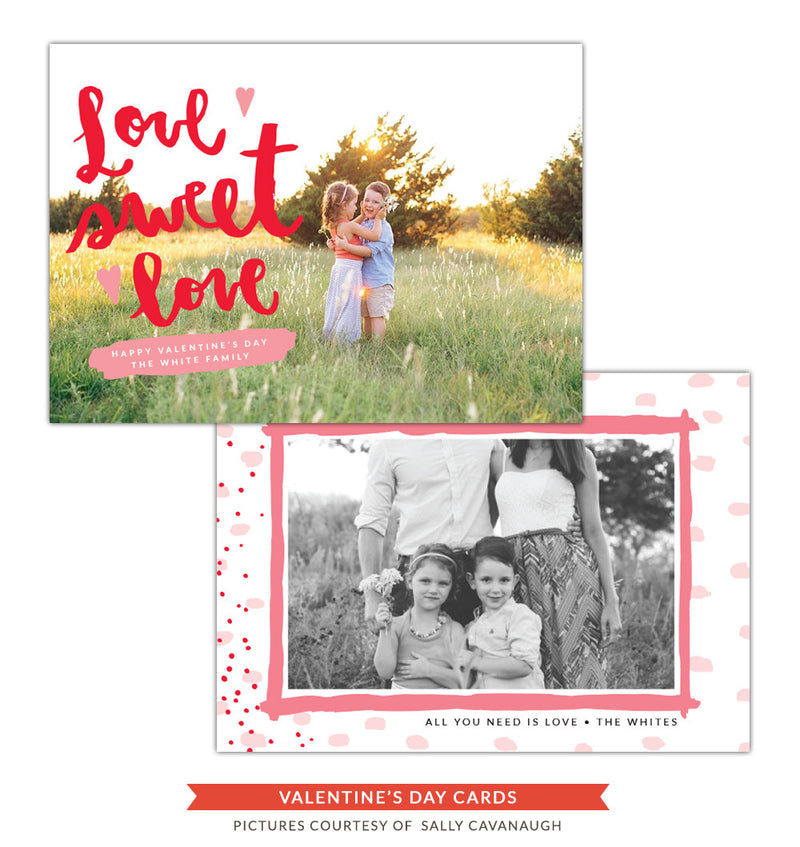 Valentine Photocard Template | Love sweet love