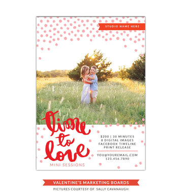Photography Marketing board | Time to love